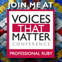 Join Me at the Professional Ruby Voices That Matter Conference
